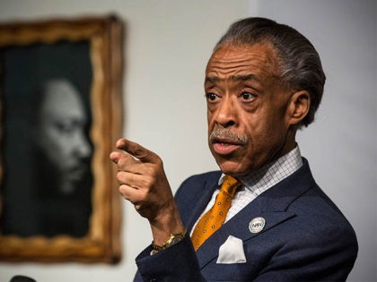 NEW YORK, NY - APRIL 08: Rev. Al Sharpton speaks a press conference at the National Action Network's Office on April 8, 2014 in New York City. Sharpton spoke about alligations that he worked with the FBI as an informant on mob activities. (Photo by Andrew Burton/Getty Images)