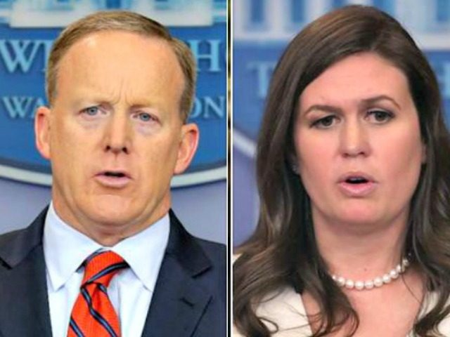 Sarah Huckabee Sanders has a really awkward time explaining Sean Spicer's absence