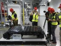 Tesla Gigafactory battery (Rich Pedroncelli / Associated Press)
