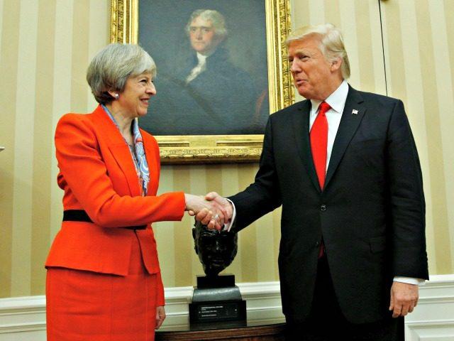 Trump, May Reuters