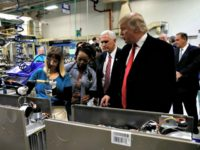 Trump, Pence, Carrier Factory Reuters