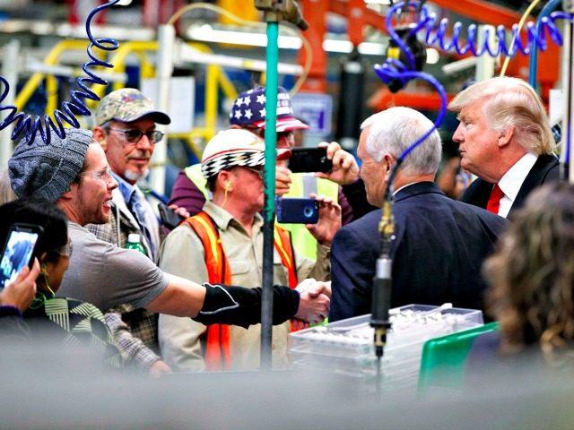 Trump, Pence, Workers Evan VucciAP