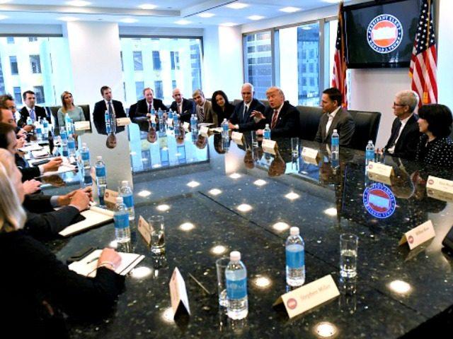 Trump, Tech CEOs TIMOTHY A. CLARYAFPGetty