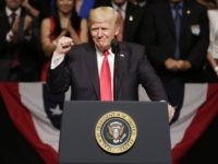 Trump fist Cuba speech (Lynne Sladky / Associated Press)