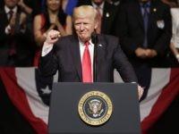 Trump fist Cuba speech (Lynne Sladky / Associated Press)