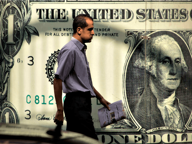 US Dollar Poster, man walking APAmr Nabil