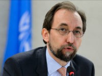 United Nations High Commissioner for Human Rights Zeid Ra'ad Al Hussein delivers a speech at the opening of a new Council's session on June 13, 2016 in Geneva. Registration centers for migrants arriving on the Greek islands from the Turkish coast are essentially 'large areas of forced confinement', on Monday …