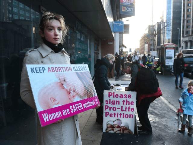 Protests Are Held Outside The Marie Stopes Family Planning Clinic In Belfast