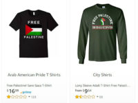 Amazon Selling 'Free Palestine' Shirts After Sears, Walmart Stop Selling Them