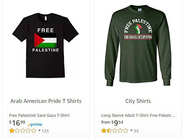 Amazon Selling 'Free Palestine' Shirts After Sears, Walmart Stop Selling Them
