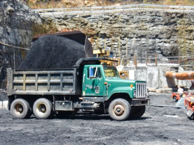 A load of metallurgical coal is loaded into a truck at the Acosta Deep Mine in Somerset County, Penn.