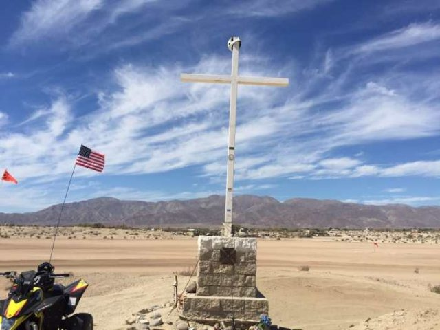 Ocotillo Wells Memorial Cross (S&S Off Road Magazine)