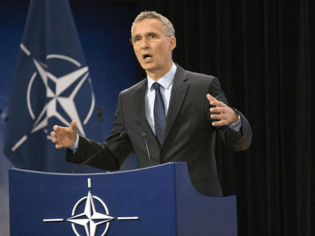 NATO Secretary General Jens Stoltenberg speaks during a media conference at NATO headquarters in Brussels on Wednesday, June 28, 2017. NATO defense ministers meet on Thursday to discuss, among other issues, the situation in Afghanistan.