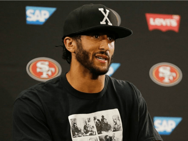 San Francisco 49ers quarterback Colin Kaepernick answers questions at a news conference after an NFL preseason football game against the Green Bay Packers, Aug. 26, 2016, in Santa Clara, California.