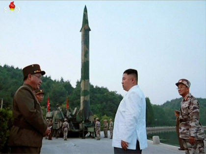 This image made from video of an undated still image broadcasted in a news bulletin on Tuesday, May 30, 2017, by North Korea's KRT shows North Korean leader Kim Jong Un and a missile launcher in North Korea. North Korean state television (KRT) aired on Tuesday video of Kim apparently …