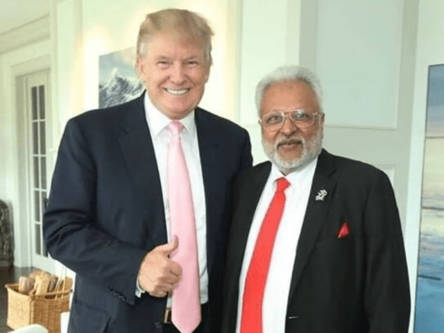 Shalabh (right) with Trump / Facebook