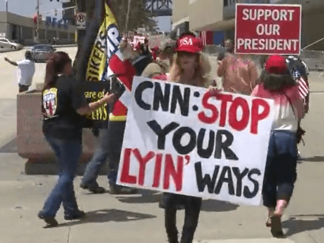 Main Street Patriots rally at CNN headquarters