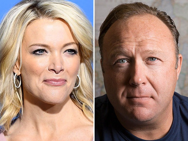 Megyn Kelly and Alex Jones.