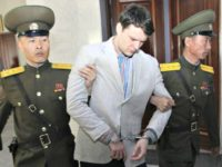 FILE - In this March 16, 2016, file photo, American student Otto Warmbier, center, is escorted at the Supreme Court in Pyongyang, North Korea. Warmbier, an American college student who was released by North Korea in a coma last week after almost a year and a half in captivity, died …