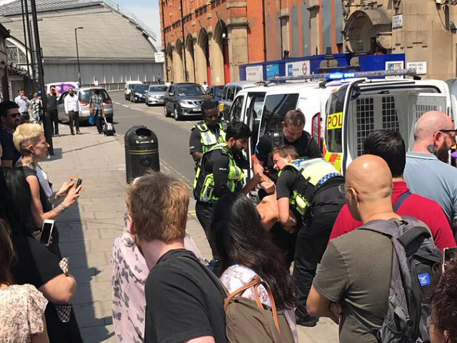 UK police arrest man at station, say no terror link