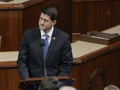 "In this image from House Television video, House Speaker Paul Ryan of Wis., pauses as he speaks Wednesday, June 14, 2017, on the House floor at the Capitol in Washington, about the shooting at the congressional baseball practice. Ryan said, ""We are united in our anguish. An attack on one …"