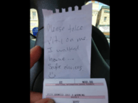 """Pity Granted, Just A Warning"" Parking Control Officer Jim Hellrood can appreciate people making safe choices, and a good sense of humor. That's why he recently issued a warning to a vehicle left in a metered lot overnight. Thanks to this resident for sharing!"