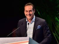 Heinz Christian Strache of (FPO) Freiheitliche Partei Osterreichs party speaks at the first Europe of Nations and Freedom (ENF) congress in Milan, on January 28 , 2016. / AFP / GIUSEPPE CACACE (Photo credit should read GIUSEPPE CACACE/AFP/Getty Images)