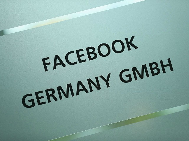 BERLIN, GERMANY - AUGUST 29: A sign outside marks the location of the Berlin Facebook offices on August 29, 2016 in Berlin, Germany. The German government has put pressure on Facebook to curb users from posting hate speech in Facebook posts, which has become more virulent in the past year …