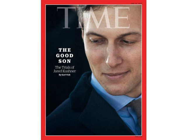 Jared Kushner on the cover of TIME magazine.