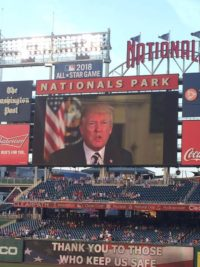 trump message congressional baseball game