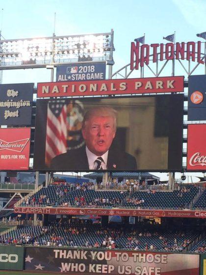 trump message congressional baseball game