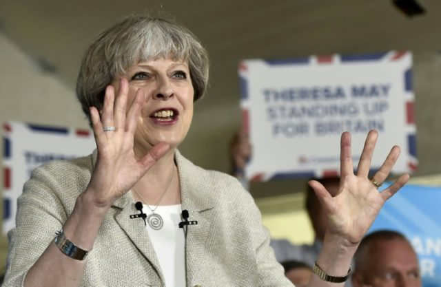 """British Prime Minister Theresa May has """"timed well"""" this Thursday's snap general election because Britons face a major squeeze on consumer spending in the coming years, economists say"""