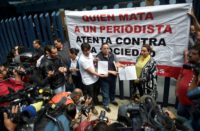 Adame's disappearance in May sparked protests in Mexico City by journalists from Michoacan state, where his remains were found