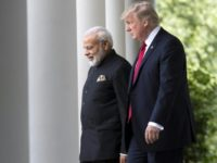 US President Donald Trump and Indian Prime Minister Narendra Modi appeared to strike up an immediate rapport in their first meeting
