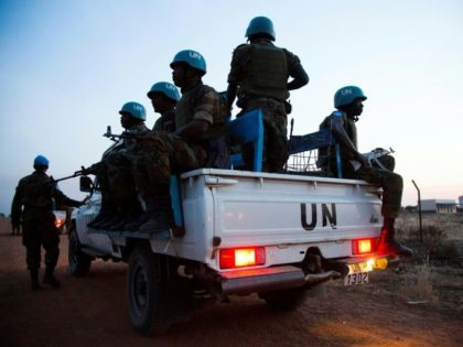 The United Nations has about 95,000 peacekeepers serving in its missions worldwide. They include these Ethiopian troops patrolling the Abyei Administrative Area, a disputed territory between Sudan and South Sudan, in December last year