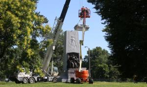 St. Louis begins removing massive Confederate memorial