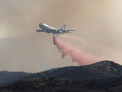 747 firefighting plane fire retardant (Dan Sternberg / Associated Press)