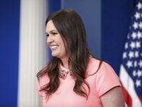 White House deputy press secretary Sarah Huckabee Sanders smiles during the daily press briefing at the White House in Washington, Friday, May 5, 2017. Sanders discussed the republican health care bill and other topics. (AP Photo/Andrew Harnik)