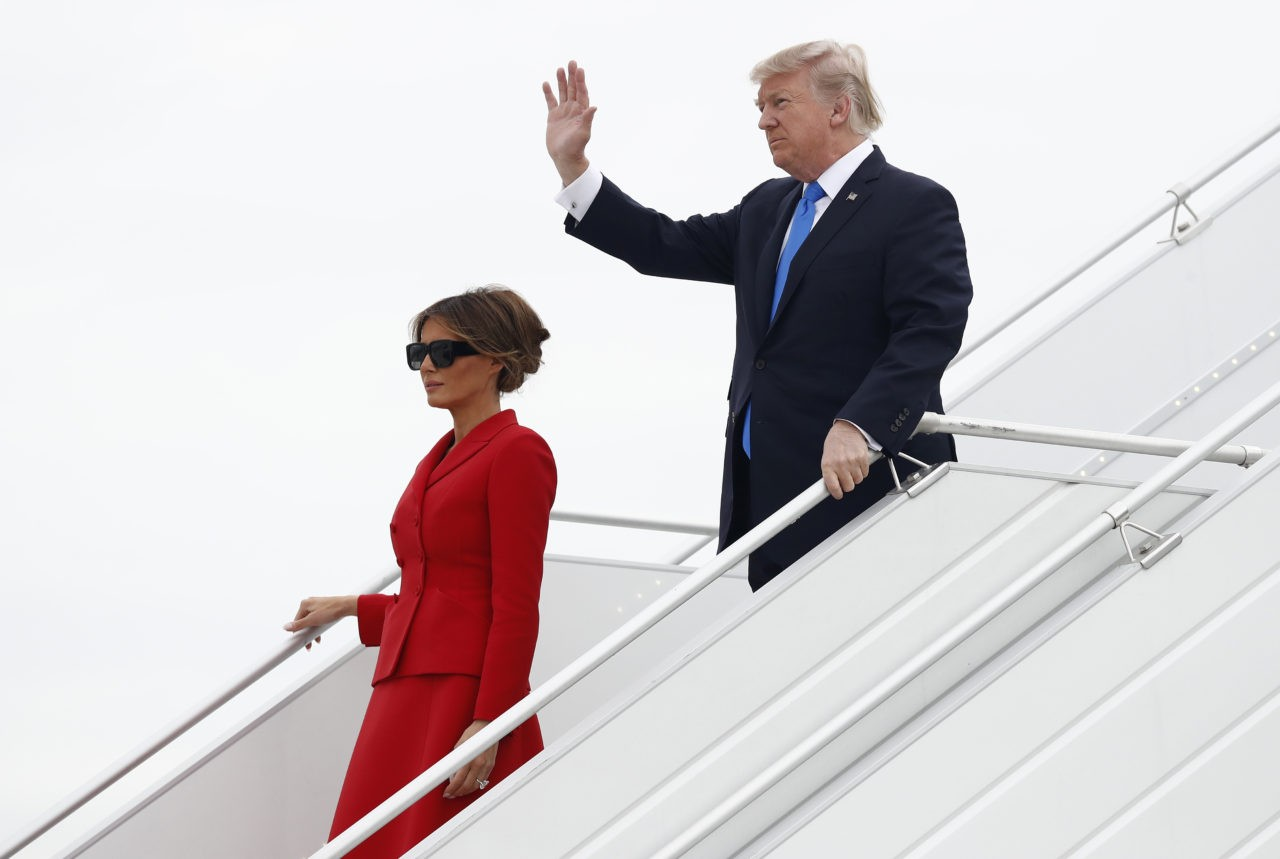 Donald Trump Copping It For 'Complimenting' The French First Lady's Body