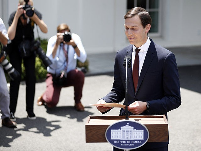 White House senior adviser Jared Kushner prepares to leave after speaking to reporters outside the White House in Washington, Monday, July 24, 2017, following a meeting behind closed doors with the Senate Intelligence Committee on the investigation into possible collusion between Russian officials and the Trump campaign. (AP Photo/Alex Brandon)