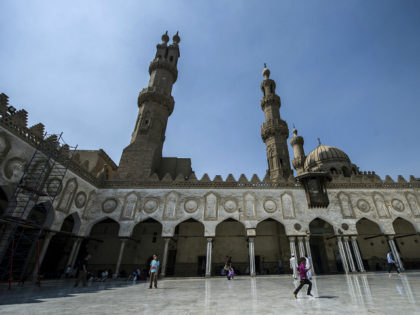 An Egyptian boy plays at al-Azhar mosque following the Friday weekly prayer in the capital Cairo's Islamic quarter, on October 2, 2015. AFP PHOTO / KHALED DESOUKI (Photo credit should read KHALED DESOUKI/AFP/Getty Images)