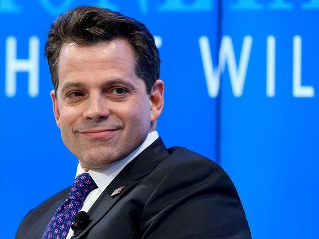 Assistant to the US President Donald Trump Anthony Scaramucci takes part in a meeting on the theme 'Monetary Policy: Where Will Things Land?' on the opening day of the World Economic Forum, on January 17, 2017 in Davos. The global elite begin a week of earnest debate and Alpine partying in the Swiss ski resort of Davos on Tuesday, in a week bookended by two presidential speeches of historic import. / AFP / FABRICE COFFRINI (Photo credit should read FABRICE COFFRINI/AFP/Getty Images)