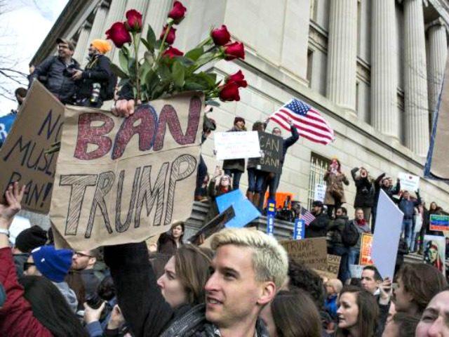 Ban Trump Protest Zach GibsonGetty