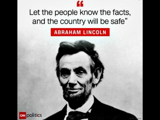CNN Lincoln Misquote @CNNPolitics