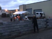 Protesting Locals Build Wall Around Planned Migrant Accommodation