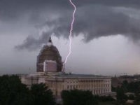 Capitol Hill lightning strike (Senate Sergeant-at-Arms via Associated Press)