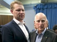 Chad Mayes and Jerry Brown (Rich Pedroncelli / Associated Press)