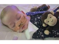 This is an undated photo of sick baby Charlie Gard provided by his family, taken at Great Ormond Street Hospital in London. A British court will assess new evidence Monday July 10, 2017, in the case of 11-month-old Charlie Gard as his mother pleaded with judges to allow the terminally …