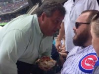 "New Jersey Gov. Chris Christie got up close and personal with a Chicago Cubs fan Sunday, calling the alleged heckler a ""big shot"" after getting within inches of the fan's face."