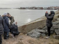 KLADESHOLMEN, SWEDEN - FEBRUARY 10: Refugee women take pictures by the sea on February 10, 2016 in Kladesholmen, Sweden. Last year Sweden received 162,877 asylum applications, more than any European country proportionate to its population. According to the Swedish Migration Agency, Sweden housed more than 180,000 people in 2015, more …